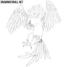 How To Draw A Phoenix Drawingforall Net
