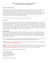 Staff Accountant Cover Letter Best Resume Templates