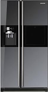 refrigerator amazon. samsung 585 l in frost-free double door refrigerator (rs21hzlmr1, black mirror) amazon