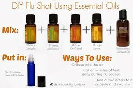 using essential oils to make a flu