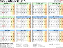 School Calendar Templates Yearly Templates School Calendar 2017 2018