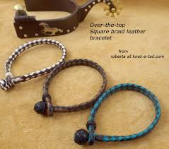 leather bracelet easy on sliding knot knot a tail com