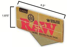Raw Classic King Size Supreme Rolling Papers Full Box of 24 Packs - Why  Spend More