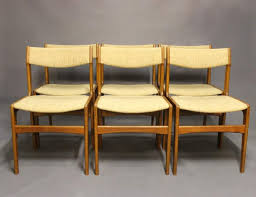 interior teak dining chairs by erik buch 1960s set of 6 at pamono