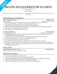 Medical Billing Resume Examples Impressive Claims Supervisor Resume Examples And Medical Billing Manager Resume