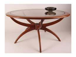 round mid century modern coffee table