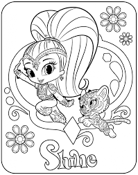 Shimmer And Shine Coloring Pages Cartoon Coloring Pages Nick Jr