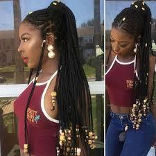 fulani braided ponytail