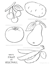 Coloring Pages Of Fruits And Vegetables Zupa Miljevcicom