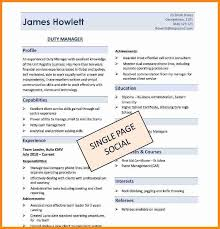download image one page resume template android effective templates sample  most 2017 format 2014 .