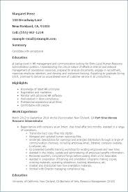 Human Resource Assistant Cover Letter Resume Sample For Letters Amazing Entry Level Human Resources Resume