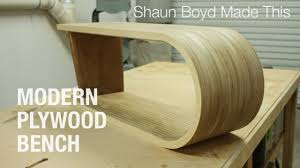modern plywood furniture. Building A MODERN Plywood Bench - Shaun Boyd Made This Modern Furniture I