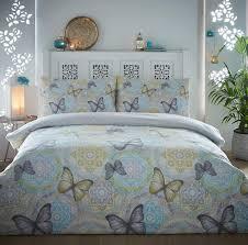 boho erfly brushed cotton flannelette duvet cover fl flannel bedding set