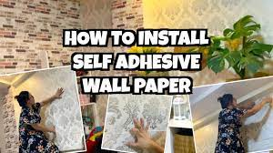 SELF ADHESIVE WALLPAPER HOW TO INSTALL ...