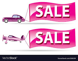 Sale Flyer Coming By Car And Airplane