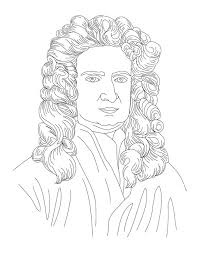 best isaac newton images isaac newton physical  isaac newton face coloring page for kids