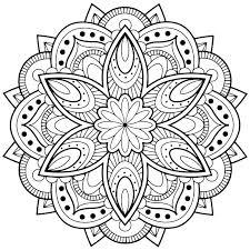 Mandala Coloring Pictures Easy Mandala Coloring Pages Mandala