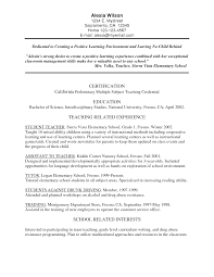 Example Of Teacher Resume Pre Primary School Teacher Resume Sample Resume For Study 82