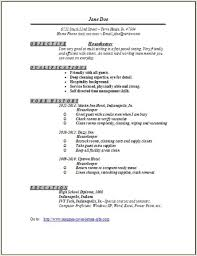 How To Make A Resume For Housekeeping Resume Sample