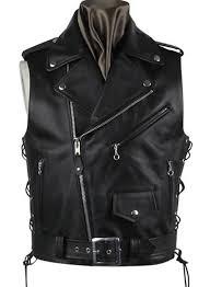 leather biker vest 308