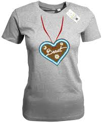 Braut Lebkuchenherz Junggesellinnenabschied Damen T Shirt