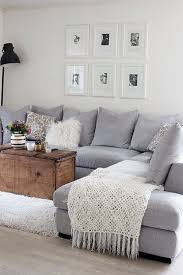 cosy grey l shape sofa with cute little