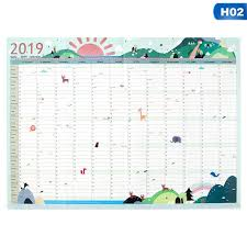 Office planner Charts 2019 Year 365days Paper Wall Calendar Office School Daily Planner Notes Large Study New Year Plan Schedule The White Pages 2019 Year 365days Paper Wall Calendar Office School Daily Planner