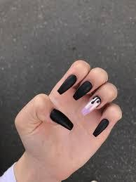 Black Coffin Shape Nail Designs Follow Bbygrl895