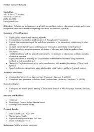 sample resume format for lecturer in commerce professional