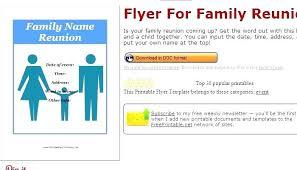 free reunion invitation templates reunion flyer template free stock vector family reunion invitation