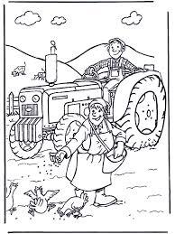 Boer En Boerin Kleurplaten Boerderij