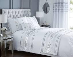 modern sequin quilt duvet cover 2 pillowcase bedding bed set black white new