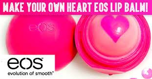 diy make your own heart eos lip balm