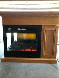 description this full size electric peninsula fireplace