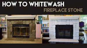 how to whitewash fireplace stone
