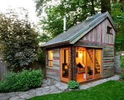Rustic backyard micro house.