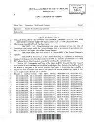 NC Sen. Trudy Wade Files Bill To Reduce Greensboro City Council