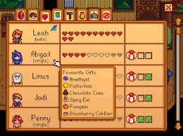 Stardew Valley A List Of All The Gifts For The Villagers