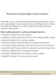 Top8policepsychologistresumesamples 150730075200 Lva1 App6892 Thumbnail 4 Jpg Cb 1438242766