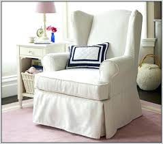 small wingback chair small wing chair slipcover
