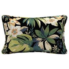 hampton bay sky tropical lumbar outdoor throw pillow
