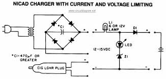 nicad battery charger with current and voltage limiting fuentes simple car battery charger circuit diagram at Car Battery Charger Schematic Circuit Diagram