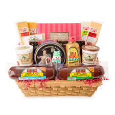 6 piece gourmet wisconsin variety sausage and cheese party sler gift basket walmart