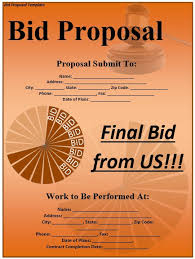 sample bid proposal template 8 free sample project bid proposal templates printable samples