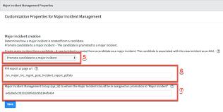 Configuring The Major Incident Management Properties