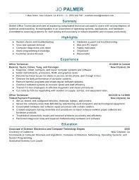 computer tech degree computer technician resume example office technician resume sample