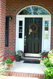 front door kick plateFront Doors  Plain Front Door Painted Black Front Door Kick Plate