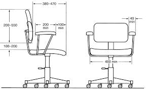 inspiration idea desk chair dimensions with blueprints