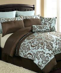 blue and brown bedding sets comfortable home comforter within teal idea king bed sheets teal bedding sets king and brown