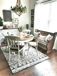 rugs under dining table area rug under dining table farmhouse room pictures of rugs tables rug under dining table images